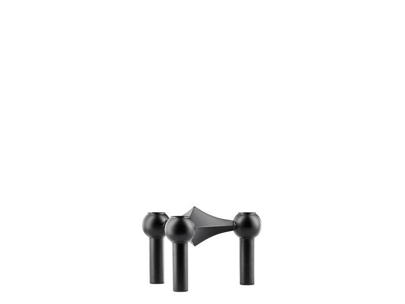 Stoff Nagel Candle Holder Black