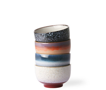 HK Living Ceramic 70's Bowls 4 pcs.