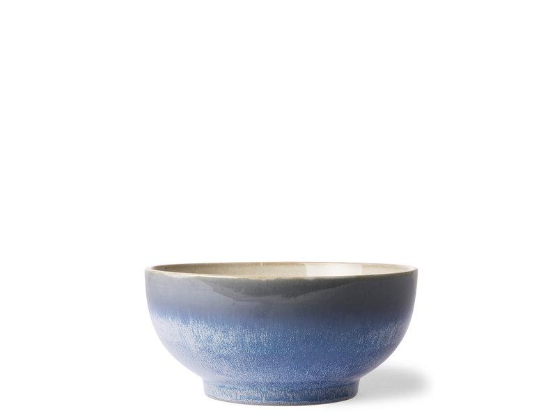 HK Living Ceramic 70's Salad Bowl Ocean L