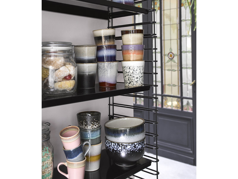 HK Living Ceramic 70's Espresso Mugs 4 pcs.