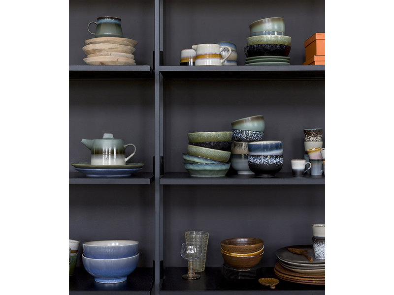 HK Living Ceramic 70's Sugar Pot