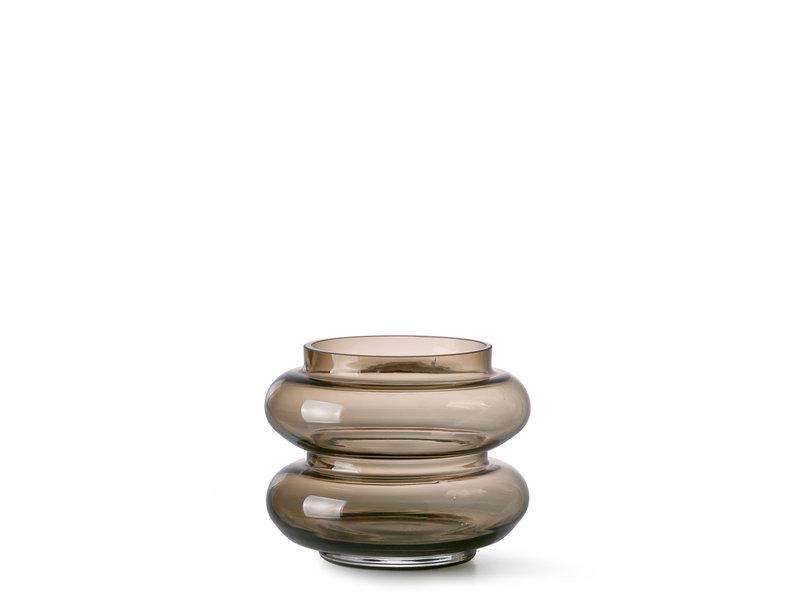 HK Living Glass Vase Smoked Brown S