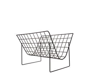 HK Living Metal Wire Magazine Rack Matt Black