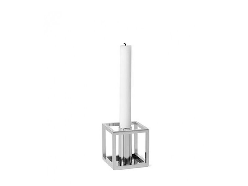 By Lassen Kubus 1 Candle Holder Nickel-Plated