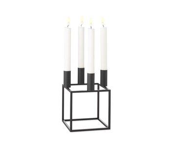 By Lassen Kubus 4 Candle Holder Black