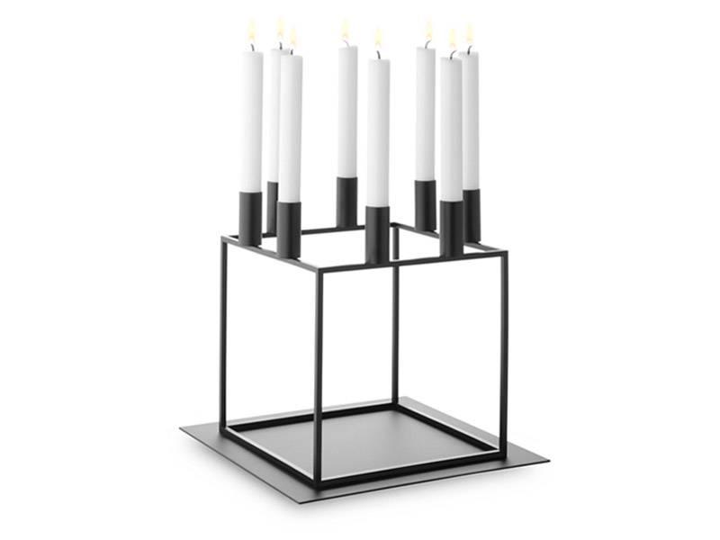 By Lassen Kubus 8 Candle Holder Black