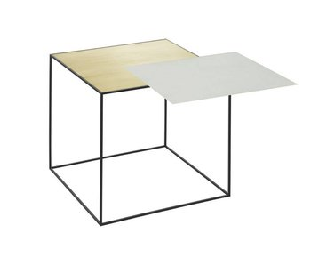 By Lassen Twin 42 Table Misty Green/Brass