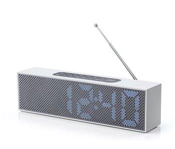 Lexon Titanium Clock Radio Aluminium