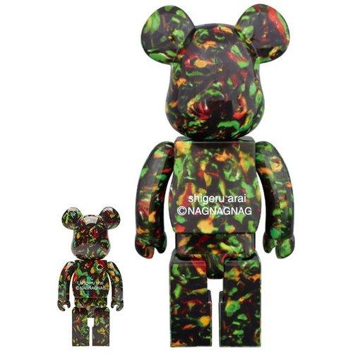 Medicom Toys 400% & 100% Bearbrick set - NagNagNag (Yotsume)
