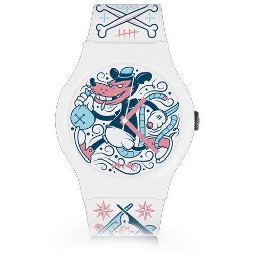 Kidrobot Rat Bastard Vannen XL Watch (White) by Kronk [150pcs]