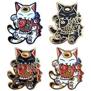 Creamlab Negora & Koi Pin (Soft Enamel) by Konatsu
