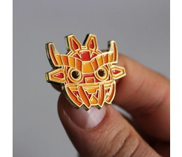 Ancient Boo Mask Pin by Angry Hedgehog