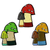 Huoli Family Funghi Pin (Soft Enamel) by Taylored Curiosities