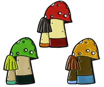 Huoli Family Funghi pin by Taylored Curiosities