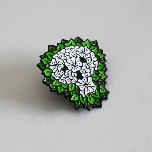 Creamlab Reaper Skull Pin by David Stevenson