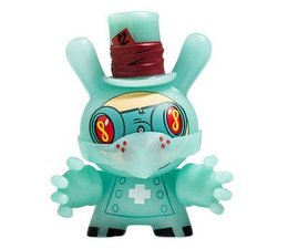 """Dr. Noxious (GID) 3/40 - Dunny """"The 13"""" GID Dunny series by Brandt Peters"""