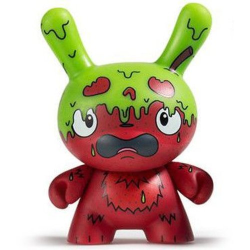 Kidrobot G.M.D. (Green) 2/24 - Scared Silly  Dunny series