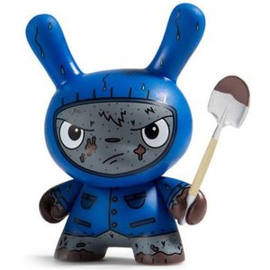 Kidrobot Cyrus Grave Digger (Blue) 2/24 - Scared Silly  Dunny series