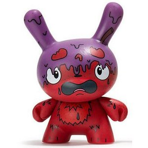 Kidrobot G.M.D. (Purple) 3/48 - Scared Silly  Dunny series
