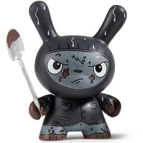 Kidrobot Cyrus Grave Digger (Black) 1/24 - Scared Silly  Dunny series