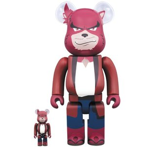 Medicom Toys 400% & 100% Bearbrick set - Kumatetsu