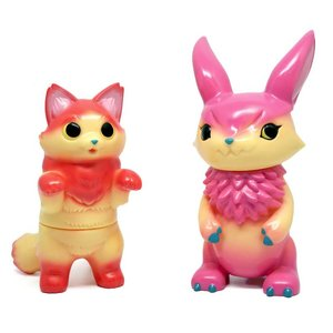 Konatsuya Fluffy Negora (Apple Pie) x Mimira (Raspberry Pie)  Set by Konatsu x DEVILROBOTS
