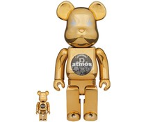 [PO] 400% & 100% Bearbrick set - Atmos (Gold Chrome)