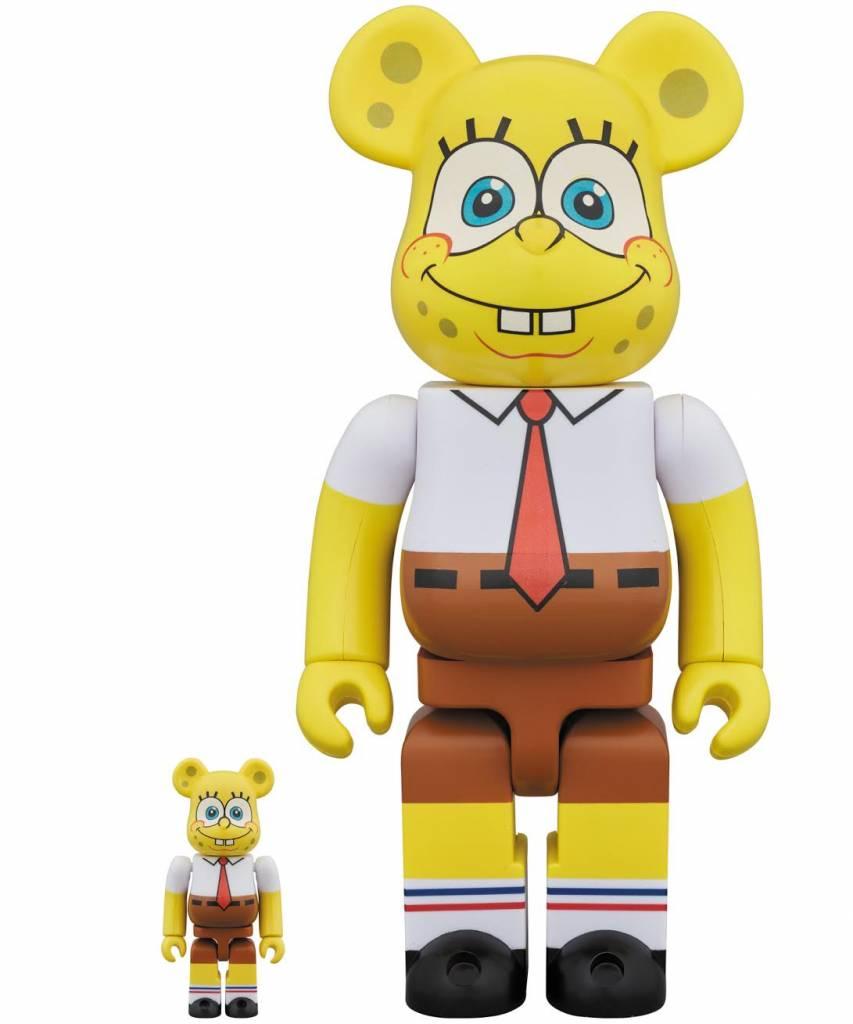 400% & 100% Bearbrick set - Spongebob Squarepants by Medicom Toys