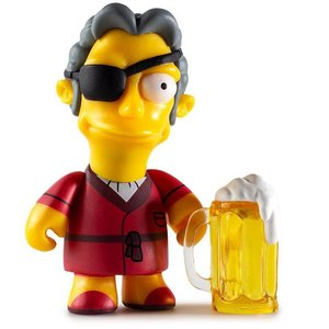Kidrobot Handsome Moe 2/24 - Moe's Tavern series (The Simpsons)