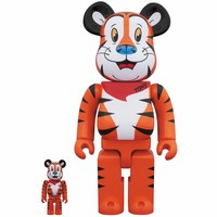 400% & 100% Bearbrick set - Tony the Tiger