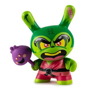 Kidrobot Shao Ru the Kung Fu 3/48 (Green) by Jerome Lu Dcon Designer Con Dunny series