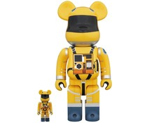 Medicom Toys [PO] 400% & 100% Bearbrick set - 2001: A Space Odyssey Space Suit (Yellow)