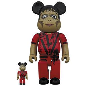 Medicom Toys 400% & 100% Bearbrick set - Michael Jackson (Zombie)