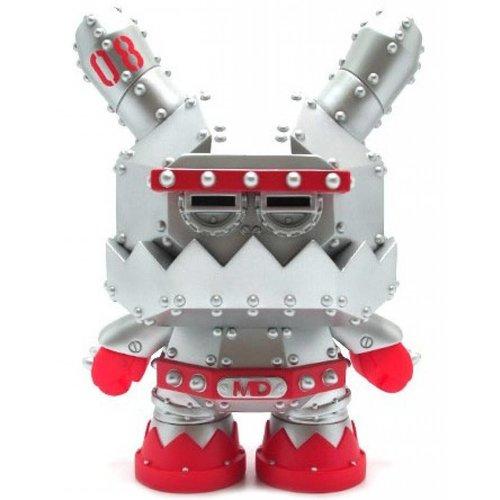 "Kidrobot 8"" Mecha Dunny (MDA3 Silver) by Frank Kozik"