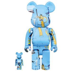 Medicom Toys 400% & 100% Bearbrick set - Jean-Michel Basquiat (V4)