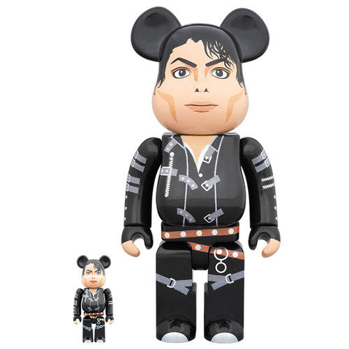Medicom Toys [PO] 400% & 100% Bearbrick set - Michael Jackson (Bad)