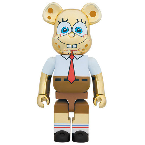 Medicom Toys [PO] 1000% Bearbrick - Spongebob Squarepants (Gold Chrome)