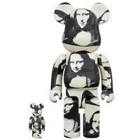 400% & 100% Bearbrick set - Andy Warhol (Mona Lisa)