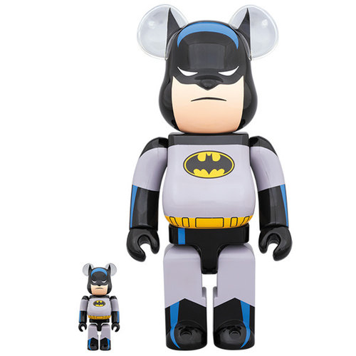 Medicom Toys [PO] 400% & 100% Bearbrick set - Batman (Animated Series)