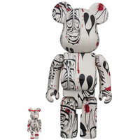 400% & 100% Bearbrick set - Phil Frost (Version 2019)