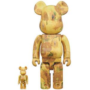 Medicom Toys 400% & 100% Bearbrick set - Vincent Van Gogh (Sunflowers)