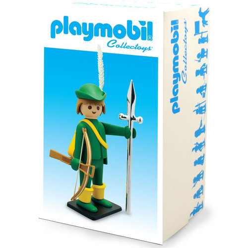 Plastoy Green Archer Statue by Playmobil Vintage Collection