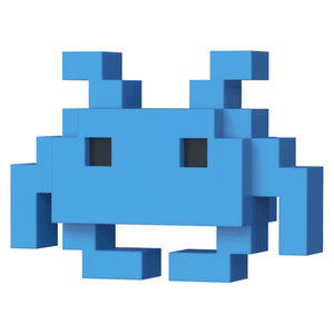 Funko Blue Space Invader - #033 - POP! 8-Bit
