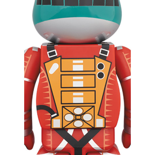 Medicom Toys 400% & 100% Bearbrick set - 2001: A Space Odyssey Space Suit (Green & Orange)