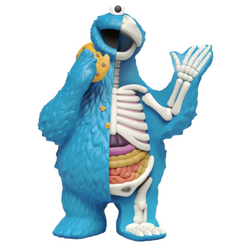 Mighty Jaxx Cookiemonster (Sesame Street) Hidden Dissectables by Jason Freeny
