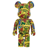 1000% Bearbrick - Keith Haring V5 (Yellow)