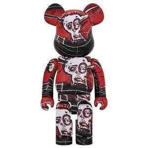 Medicom Toys [PO] 1000% Bearbrick - Jean-Michel Basquiat V5 (Red)