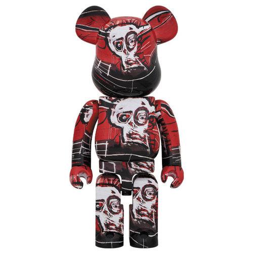Medicom Toys [Pre-Order] 1000% Bearbrick - Jean-Michel Basquiat V5 (Red)