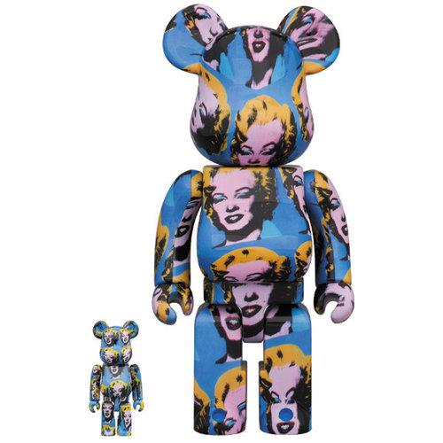 Medicom Toys 400% & 100% Bearbrick set - Andy Warhol (Marilyn Monroe)