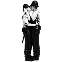 Kissing Coppers by Brandalised x Banksy